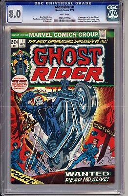 Ghost Rider #1 (Sep 1973, Marvel) CGC 8.0 White Pages Key Issue