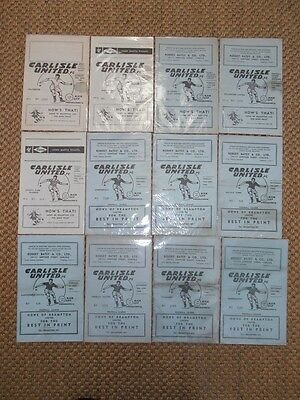 1962-64 CARLISLE UNITED HOME PROGRAMMES - Your Choice - FREE Postage
