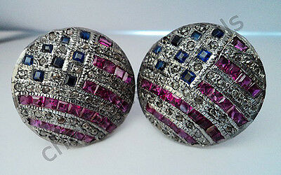 Vintage Inspired Artisan 1.30 Ct Rose Cut Diamond 925 Silver Cufflinks @CSJewels