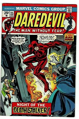 Daredevil #115, VG/FN 5.0, Marvel Value Stamp Intact