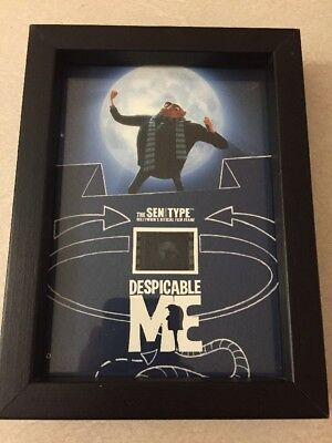 """35mm Film Frame Cell Despicable Me Senitype Gru w/ full Moon #4380 8x6"""" Limited"""