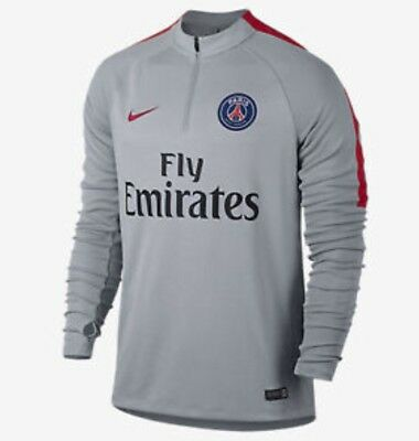 Mens Nike Paris Saint Germain PSG Football Squad Drill Top M 809738 013 Grey