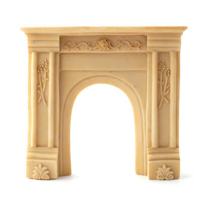 Dolls House 1/12 scale Beige Resin Fire Surround
