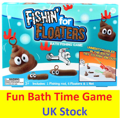 Fishing For Floaters Kids Adults Fun Poop Bath Toilet Prank Game Christmas Gift