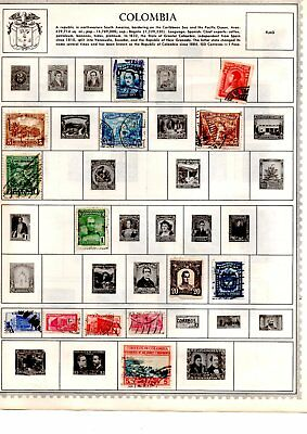 Colombia stamps x158 early copies loose and album pages