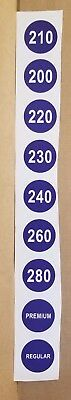Sunoco Blend Pump Decal Tabs * Gas & Oil