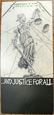 METALLICA CD Long box Art display And Justice For All Thrash Heavy Metal 1980s