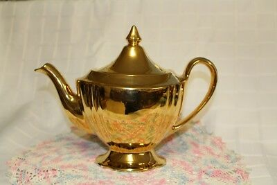 GOLD FIRED TEAPOT ROYAL WINTON Grimwades England