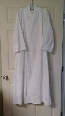 """Liturgical Clergy Server Alb C M Almy Front Wrap White 56"""" Long"""