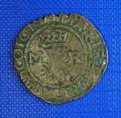 Scotland, Mary, Queen of Scots, Bawbee (Sixpence),1542-58 -Plain Saltire- S.5432