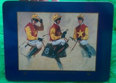 The Jockey Henry Koehler 1994 Martell Grand National Placemat Tablemat or Frame