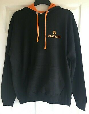 Fiatagri Tractor Embroidered Contrast Hoodie - XS to 2XL