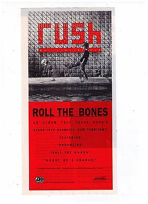 "1991 Rush ""Roll The Bones"" Vintage Album Print Advertisement"