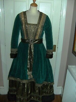 Ladies Medieval Pantomime Queen Dress Period By Midland Costume Theatre Stage