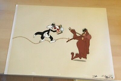 Vintage Sylvester The Cat  Cel  Hand Inked   Matching Pencil Drawing's