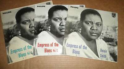 BESSIE SMITH 'EMPRESS OF THE BLUES EPs 1,2 &3' BBE 12202 12231 12233 PHILIPS1959