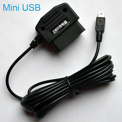 OBD II Mini USB Micro Smart Charger Adapter Cable 5V Camera GPS DVR Navigation