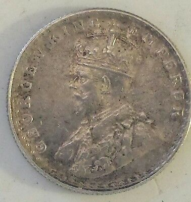 """""""1919 India Half Rupee"""" Silver (.917) Coin Xf - Au Condition - Not Prof. Graded"""