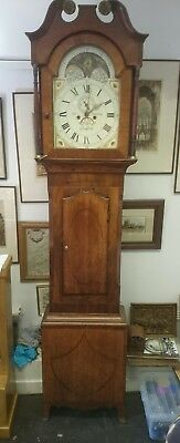 Rutherford,  Bradford 8 day Moonphase Longcase Clock Oak & Mahogany Case G.W.O