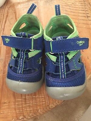 Oshkosh Bgosh Sandal Sneakers size 5 blue green baby toddler boy