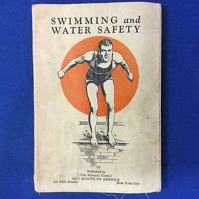 "Boy Scout Book Swimming And Water Safety ""Every Scout A Swimmer"""