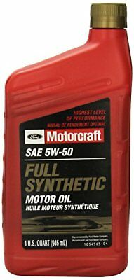 Genuine Ford Fluid XO-5W50-QGT SAE 5W-50 Full Synthetic