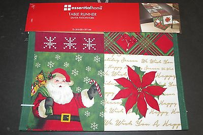 Essential Home Santa Patchwork table runner NIP