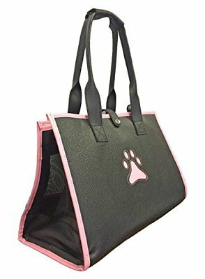 Posh Paw' Pet Carrier, One Size, Black/With Pink Paw Pr