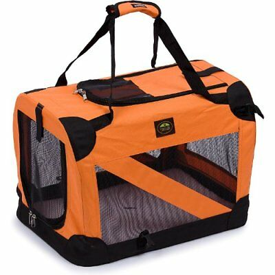 Pet Life Pet Crate, Orange, Large