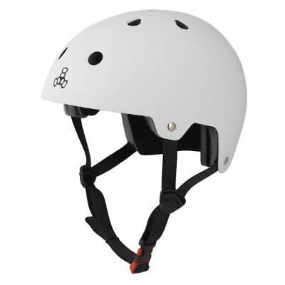 Triple Eight Certified Rubber Helmet (White, X-Small/Sm