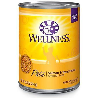 Wellness Natural Grain Free Wet Canned Cat Food, Salmon