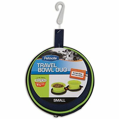 Petmate 3-Cup Silicone Duo Travel Bowl