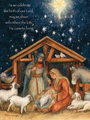 Lang Holy Family Boxed Christmas Card, 5.38 x 6.88 Inch