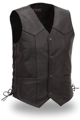 First Manufacturing Men's Slide Lace Classic Vest (Blac