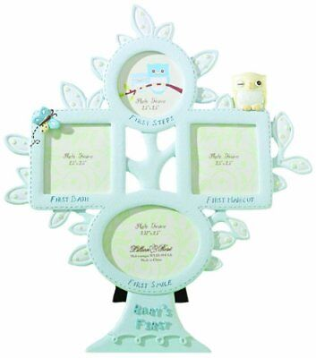 Lillian Rose 1st Year Picture Frame, Blue Owl, 10.5""