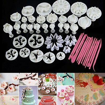47pcs Cake Decoration Mold Tools Set Sugarcraft Icing C