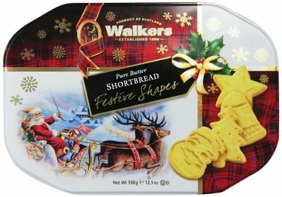 Walkers Shortbread Festive Shapes, 12.3-Ounce Tin