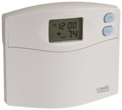 Supco 43154 Programmable Wall Thermostat with Blue Nigh