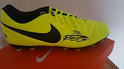 Leicester City Kelechi Iheanacho Signed Nike Football Boot Picture Proof