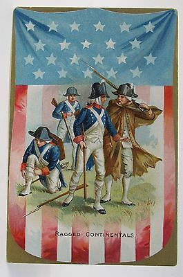circa 1909 Tuck RAGGED CONTINENTALS  4th of July embossed postcard