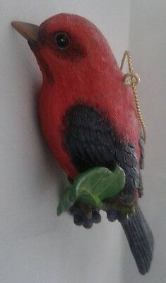 "Danbury Mint ""Scarlet Tanager"" from The Songbird Christmas Ornaments Collection"