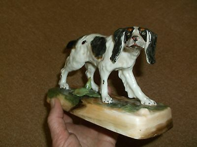 Fine & Rare Antique 19Th Century Large Hand Painted Hunting Hound Dog Figure