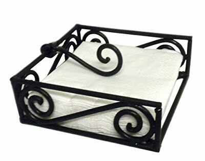 Black Village Scroll Beverage Napkin Holder