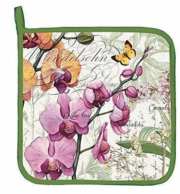 Michel Design Works Cotton Potholder, Orchids in Bloom