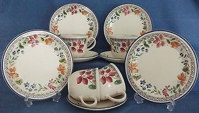 Staffordshire Calypso Cups Saucers Plates Tableware Made In England