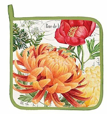 Michel Design Works Cotton Potholder, Morning Blossoms
