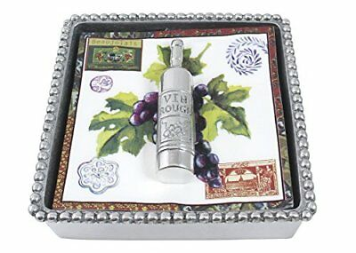 Mariposa Wine Bottle Beaded Napkin Box
