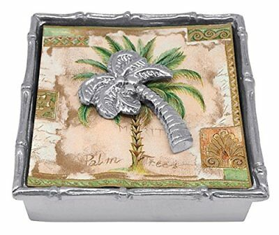 Mariposa Palm Tree Bamboo Napkin Box