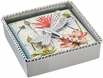 Mariposa Dragonfly Beaded Napkin Box