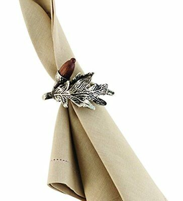 Mud Pie Metal Branch Napkin Ring, Acorn